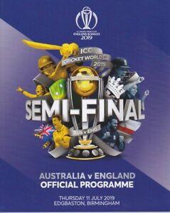 AUSTRALIA-v-ENGLAND-CRICKET-WORLD-CUP-SEMI-FINAL-PROGRAMME-2019-EDGBASTON