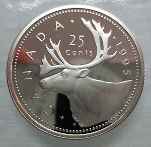 1995-CANADA-25-CENTS-PROOF-QUARTER-HEAVY-CAMEO-COIN