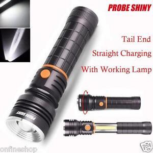 cob led magnetic end black work light inspection flashlight lamp torch. Black Bedroom Furniture Sets. Home Design Ideas