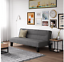new dhp kebo futon couch with microfiber cover, gray freeshipping