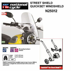 Street Shield for 1in Clear N25012 Handlebars National Cycle