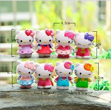 8pcs/Lot hollow Hello Kitty Figure toys