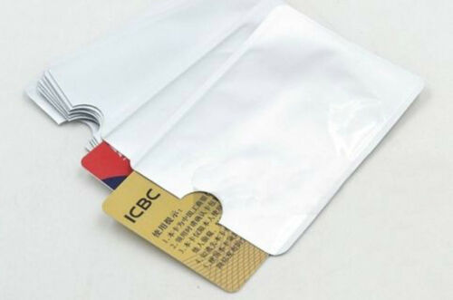 3x RFID Blocking Sleeve Credit Card Bank Card Protector Holders for Wallets UK