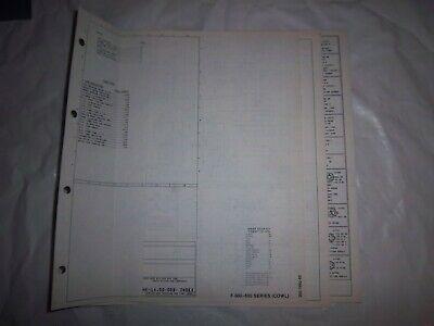 1985 Ford F600 F700 F800 Cowl Foldout Wiring Diagram ...