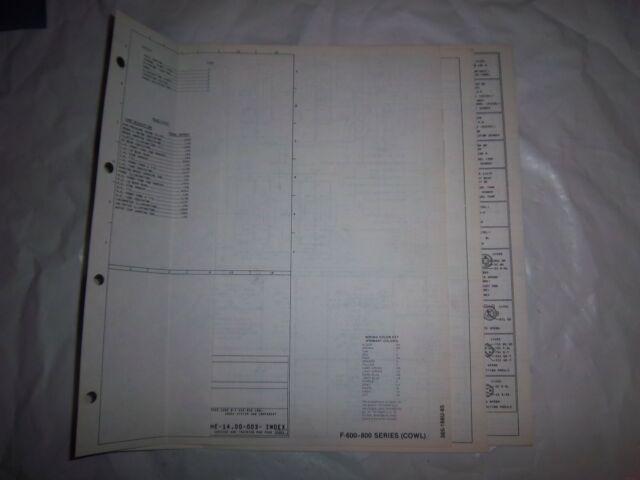 1985 Ford F600 F700 F800 Cowl Foldout Wiring Diagram