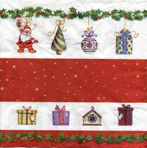 1049 4 Motivservietten Servietten Napkins Tovaglioli Weihnachten