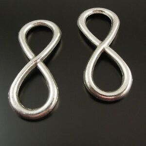 40-pcs-Antiqued-Silver-Alloy-034-8-034-Infinity-Sign-Pendant-Jewelry-Connector-31x13mm