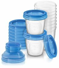 PHILIPS AVENT SCF618/10 REUSABLE BREAST MILK STORAGE CUPS PACK OF 10 CUPS *NEW*