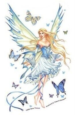 "Nene Thomas PRELUDE IN BLUE Fantasy Fairy Sticker Car viny decal NEW 4.25""X6.5"""
