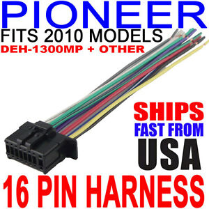 2010 pioneer wire harness deh 2200ub deh 1300mp fast free usa Pioneer Car CD Player Factory image is loading 2010 pioneer wire harness deh 2200ub deh 1300mp