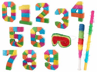 en forme chiffre Numéro Pinata traditionnelle en papier mâché est multicolore