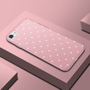 Cute-Polka-Dot-Cell-Phone-Hard-Protective-Case-Cover-For-iPhone-XS-Max-XR-8-5-6S