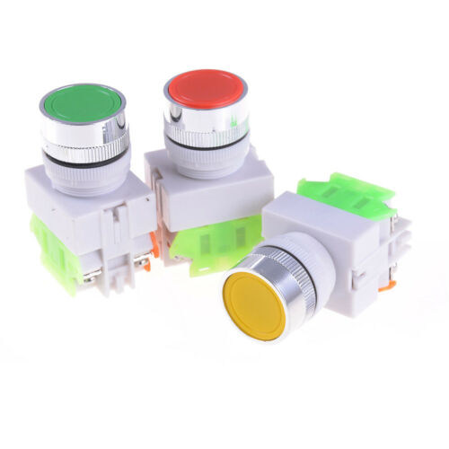 Electrical 22MM Emergency Stop Switch Flat Momentary  Push Button 1NONWUSHH