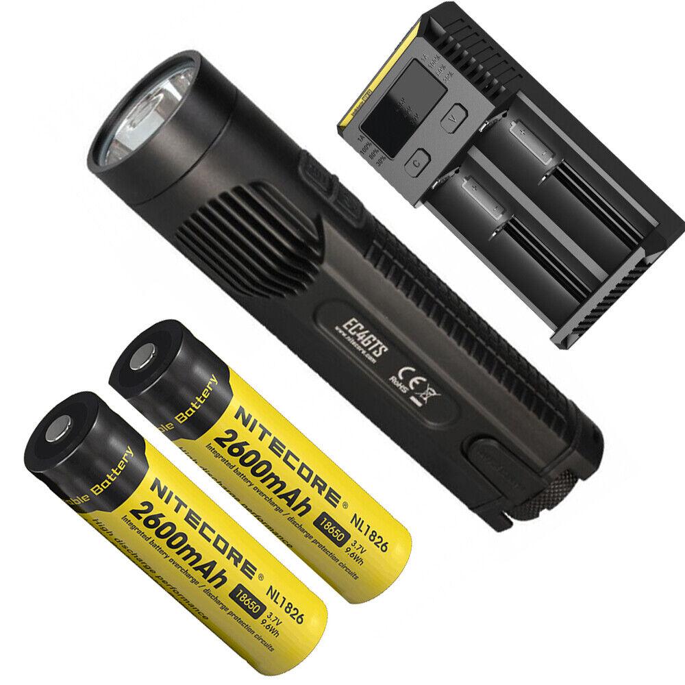 Nitecore EC4GTS 1800 lumen cree XHP35 LED Linterna de búsqueda con Baterías Cargador