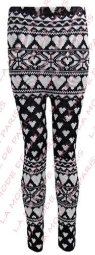 Nouveau Femmes aztèque U29 Kintted multi couleur Mesdames snowflke nordique fairisle legging