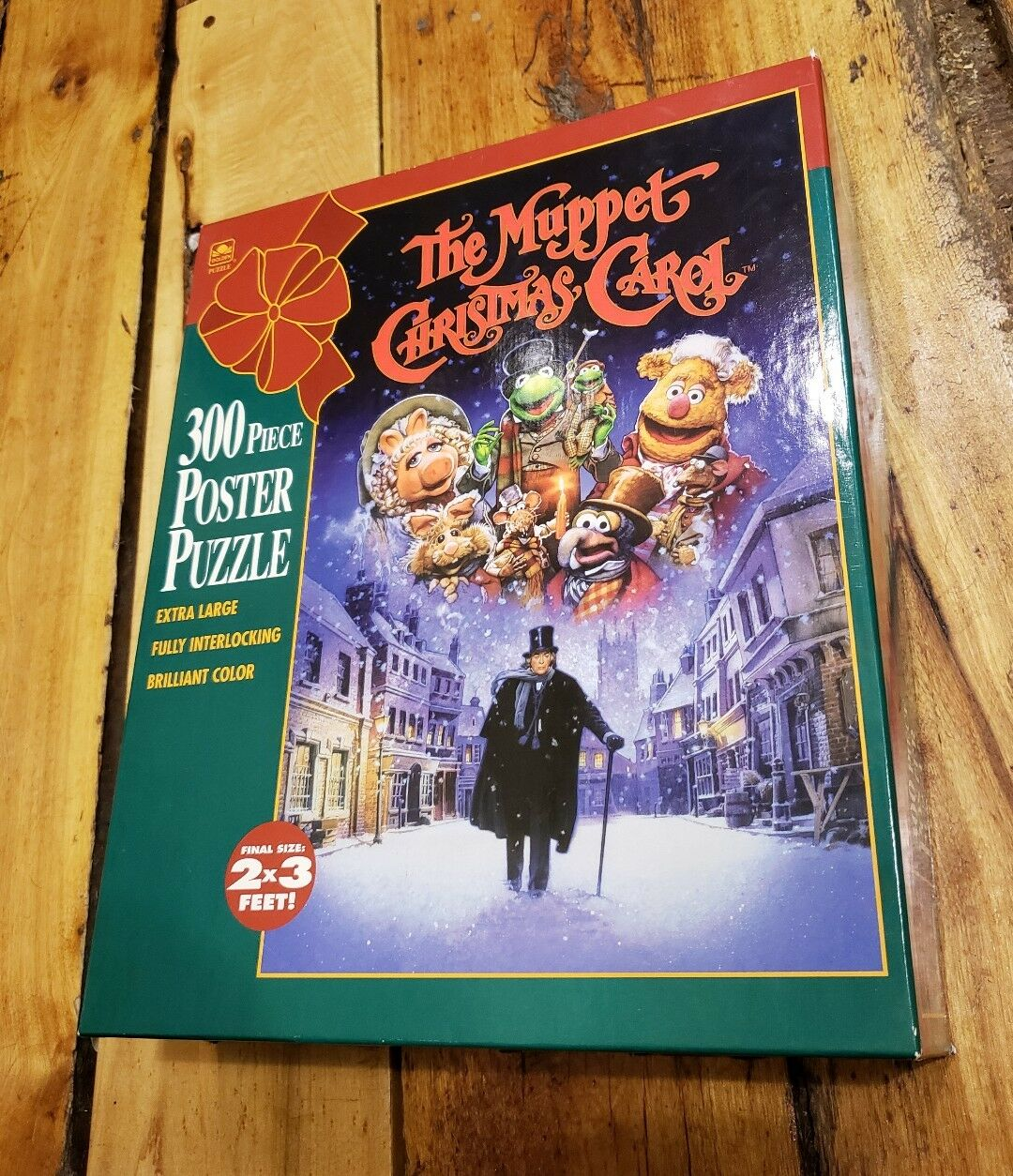The Muppet Christmas Carol Movie Poster Puzzle (300-Piece) oroen kids COMPLETE