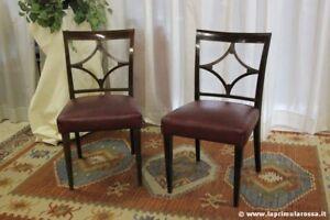 Sedie Depoca : Coppia di sedie depoca per studio sedia antica in legno seduta