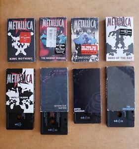 Metallica-Cassette-Singles-lot-8-Cassette-Single-039-s-Four-Never-Opene