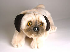 Pug Puppy by Piutre, Hand Made in Italy, Plush Stuffed Animal NWT