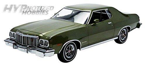 Luz green 1 18 1976 Ford Gran Torino Die-Cast green 19018