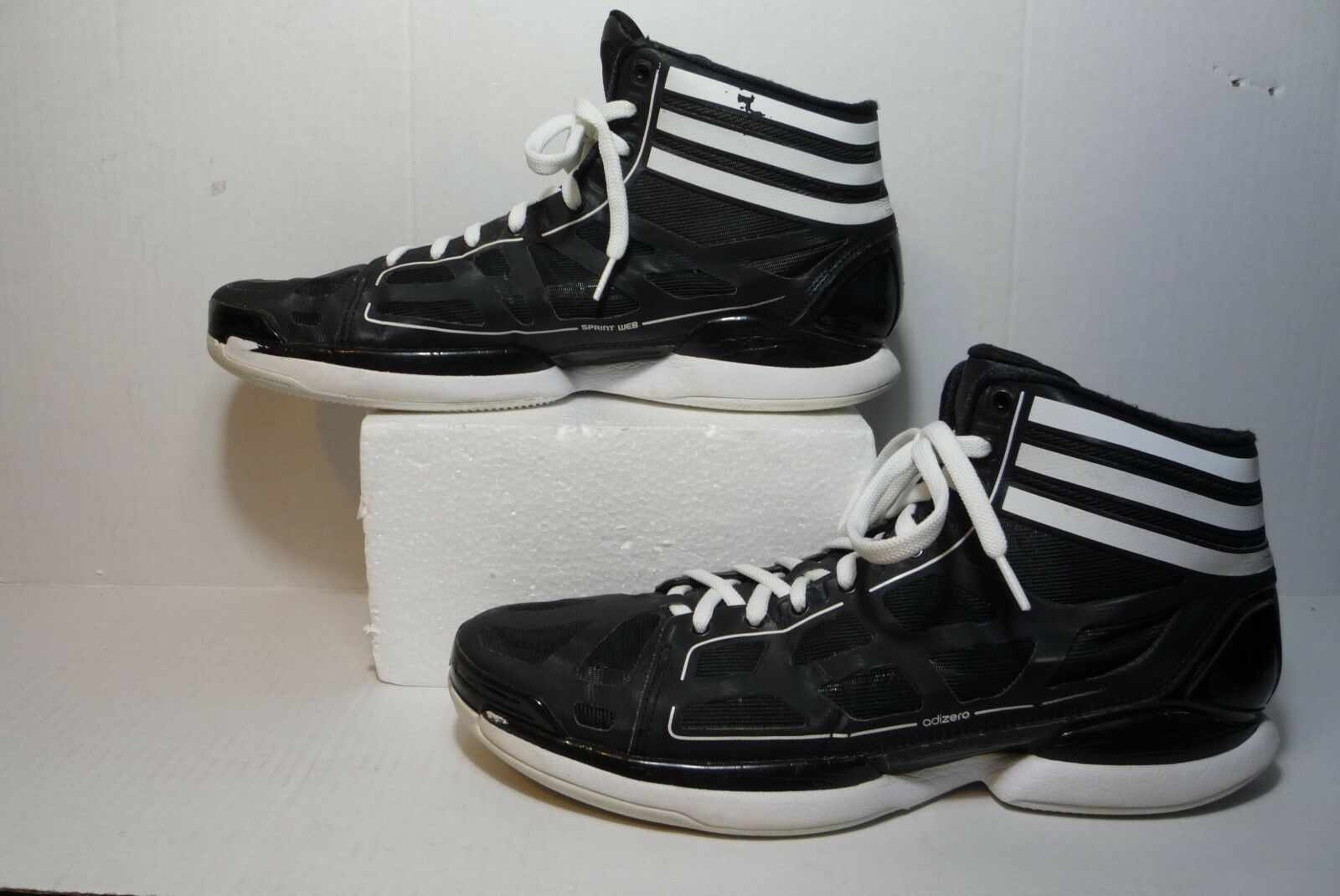 ADIDAS BLACK WHITE BASKETBALL SHOES G21732 Men's Comfortable Special limited time