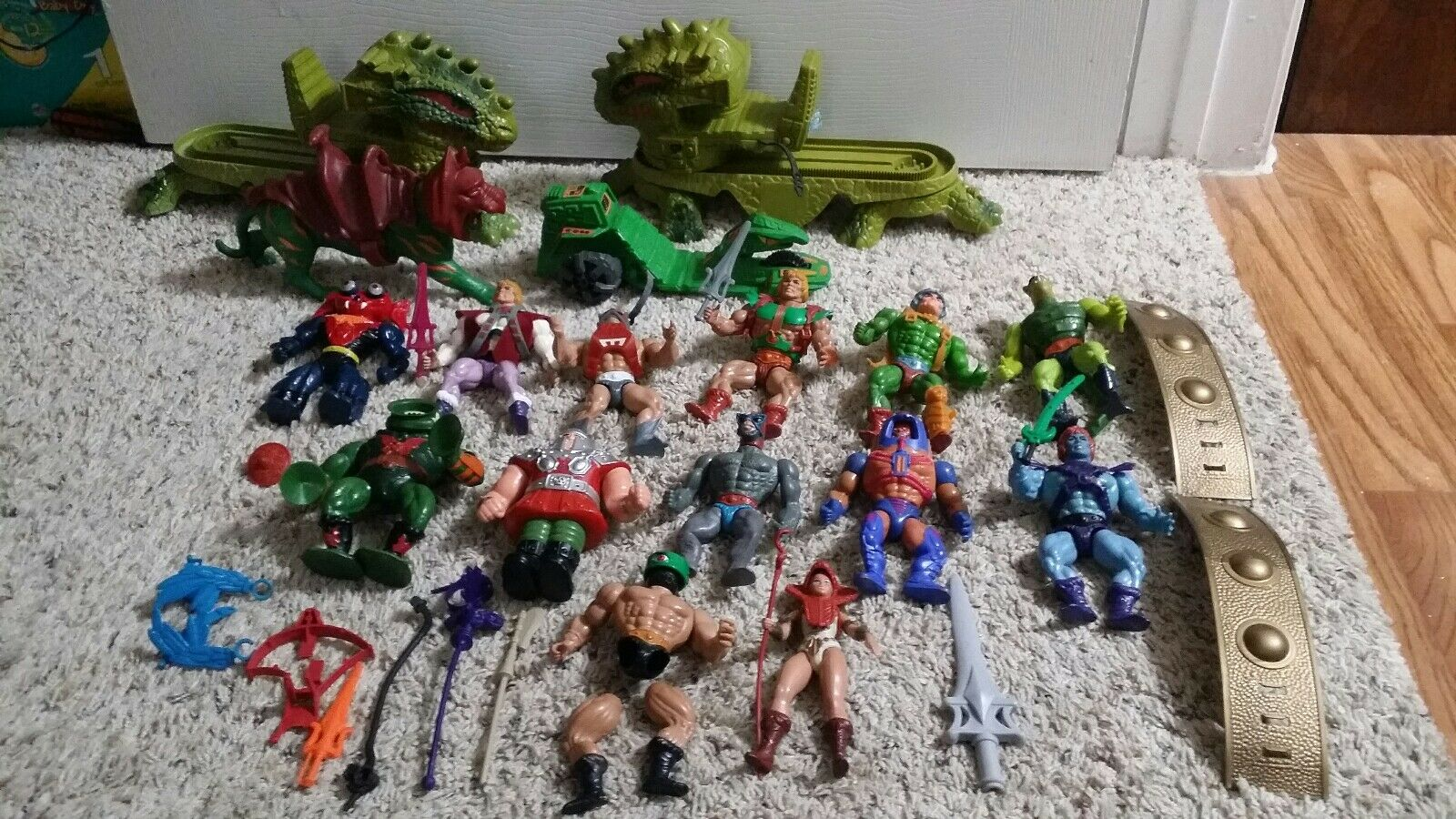 HUGE He-man Collection, MOTU Vintage 1980s.   Old toys sold as is