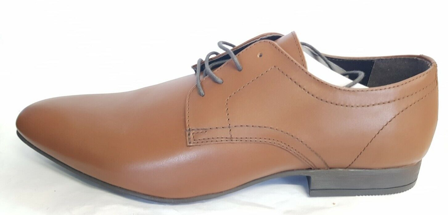 OCR* Moss London Leather Lace Up Shoe In Tan SIZE UK 10