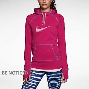 lo último 96a70 4cd07 Detalles de Nike Mujer Swoosh Fuera All Time Sudadera con Capucha XS Rosa  Casual Gimnasio