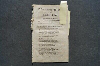 1823 Erinnerungsblätter 2 / Lord Byron / Türkei Tenedos / Franz Y Mina / Minden Duftendes (In) Aroma