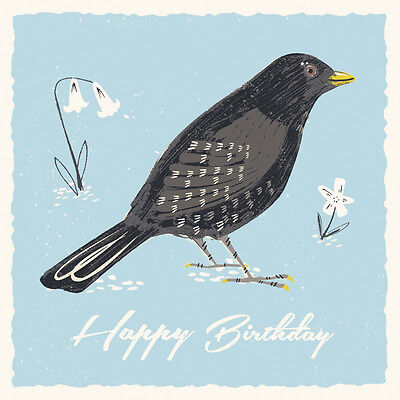 dotcomgiftshop BLACKBIRD BIRTHDAY CARD
