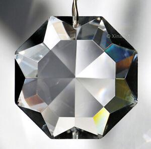 Crown-Diamond-Shape-Star-50mm-Austrian-Crystal-Clear-Prism-SunCatcher-2-inches