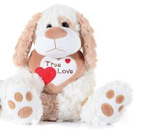 """Brand new 10 """"crème Valentines véritable amour coeur nounours peluche jouet doux  </span>"""