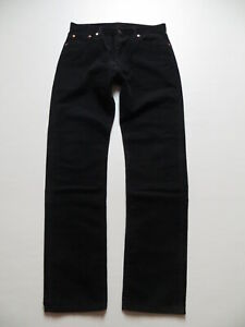 Levi-039-s-551-Cord-Jeans-Hose-W-34-L-34-Schwarz-Cordhose-m-Knopfleiste-wie-NEU