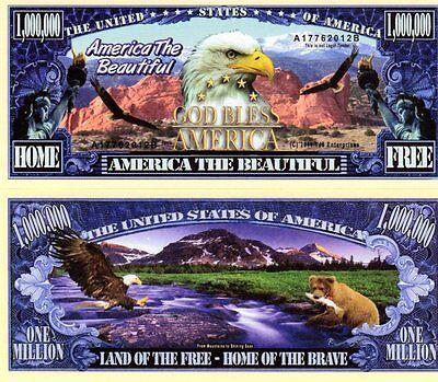 America the Beautiful Million Dollar Novelty Money