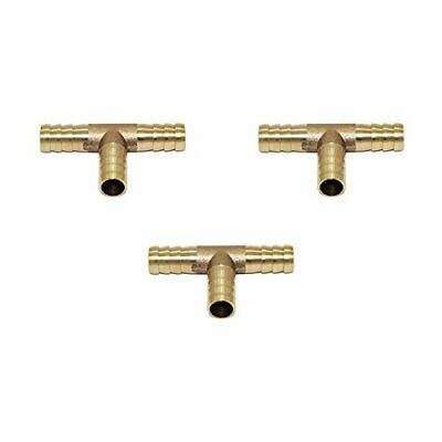 Joyway 1//2 ID Hose Barb Y Shaped 3 Way Union Fitting Intersection//Split Brass Water//Fuel//Air