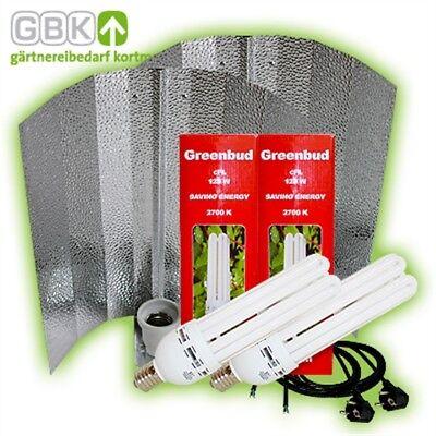 AnpassungsfäHig Greenbud 2 X 125-w 250-w Watt Rot Blüte Energiespar-lampe Esl Cfl Grow Pflanzen Starke Verpackung