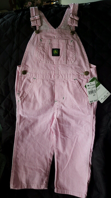 New OshKosh Girls Pink Hickory Stripe Heart Overalls 12m 18 2T 3T 4T 5T  Vestbak