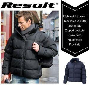 Mens-Light-Puffer-PADDED-Showerproof-DOWN-Feel-WARM-Winter-Jacket-SIZES-S-to-3XL