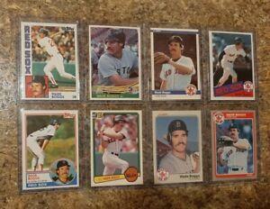 (8) Wade Boggs 1983 Topps Fleer Donruss Rookie 1984 1985 Card Lot RC Red Sox HOF