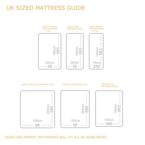Double 4ft6 Memory Foam Quilted Spring Mattress Single 3ft King 5ft Mattress