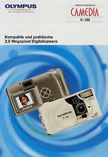 Prospekt 1 Blatt Olympus Camedia C-120 Digitalkamera 8/02 2002 Broschüre Kamera