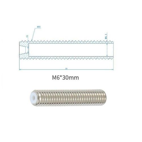 MK8 Makerbot M6 Feeding Tube Long Nozzle Throat for 3D Printer Extruder 1.75mm