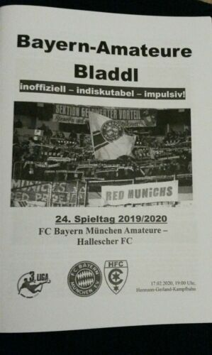 Liga Programm FC Bayern München FCB Hallescher FC 17.02.2020 Amateure Bladdl 3