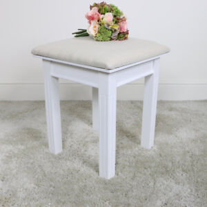 White-wooden-dressing-table-stool-seating-contemporary-traditional-furniture