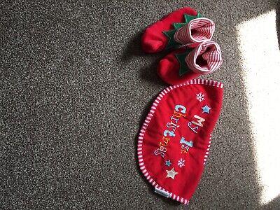 Scarpe Stivali Elfo Natale 6-12 Mesi-mostra Il Titolo Originale