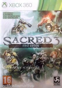 jeu-SACRED-3-first-edition-pour-xbox-360-en-francais-game-spiel-juego-NEUF-NEW