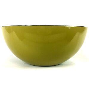 Cathrine-Holm-Bowl-11-in-Diameter-Enamel-Large-Mid-Century-Green-Norway-MCM