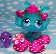 Littlest Pet Shop Blütenelfe Fee Crystal Clear Fairy & Accessoire & Baby RARE