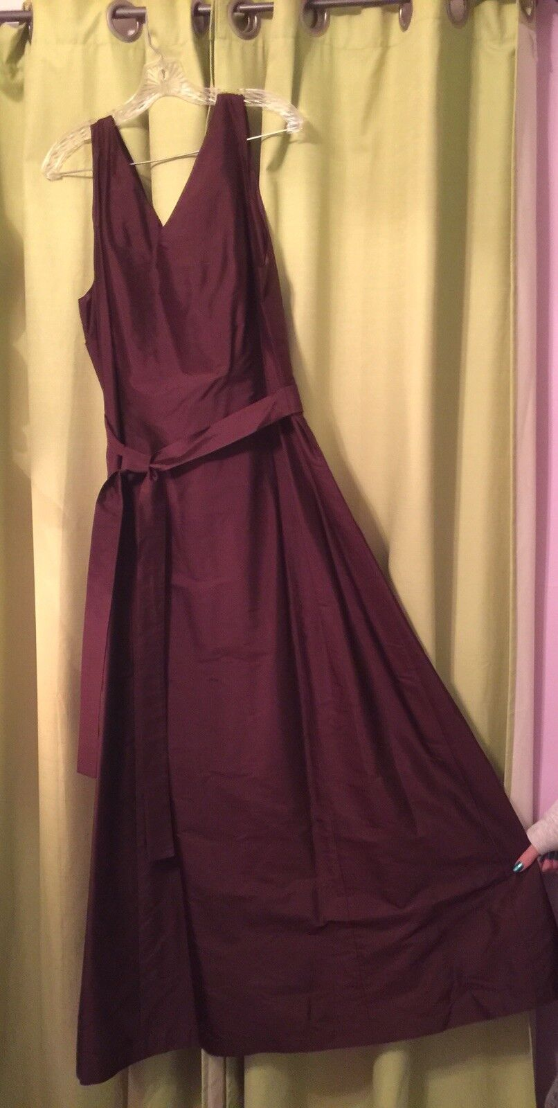 NEW NEW NEW Aria 100% silk dress gown bridesmaid prom formal women's classic FREE SHIP be890c