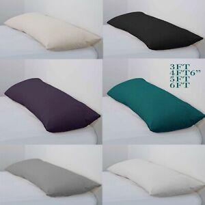 Long-Bolster-Pillow-amp-Pillow-Case-Body-Pillow-Neck-Relief-3Ft-4Ft6-5Ft-6Ft
